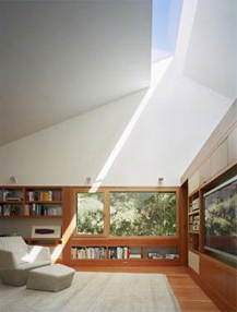 natural daylighting in the living room